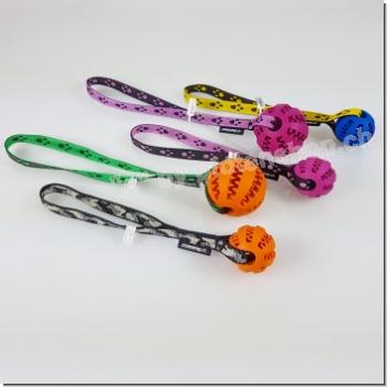 Zahnball mit Band, 50mm + 75mm verschiedene Farben
